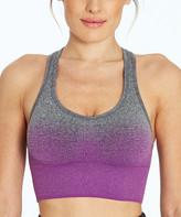 Marika Women's Bras H. - Heather Charcoal & Purple Ombre Dora Sports Bra