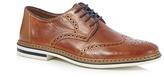 Rieker Tan Leather Lace Up Derby Brogues