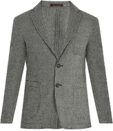THE GIGI Angie patch-pocket wool hound's-tooth blazer