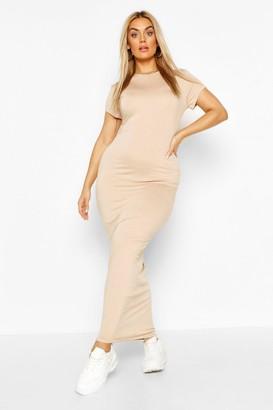 boohoo Plus Cap Sleeve Maxi Dress
