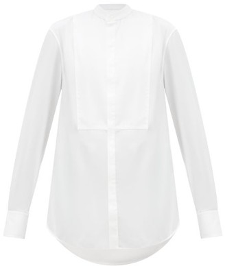 Wardrobe.nyc - Release 01 Mandarin-collar Cotton Tuxedo Shirt - White