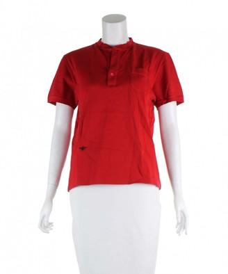 Christian Dior Red Cotton Polo shirts