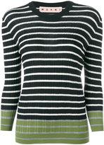 Marni striped contrast sweater - women - Virgin Wool - 40