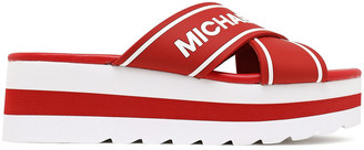 MICHAEL Michael Kors Demi Printed Rubber Platform Slides
