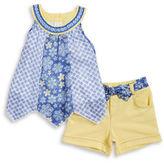 Little Lass Girls 2-6x Little Girls Two Piece Top and Shorts Set