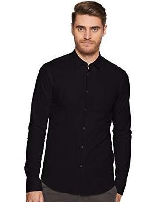Scotch & Soda Men's Casual Shirt NOS Elastane Shirt Slim Fit Classic Collar,Large (Manufacturer Size: L)