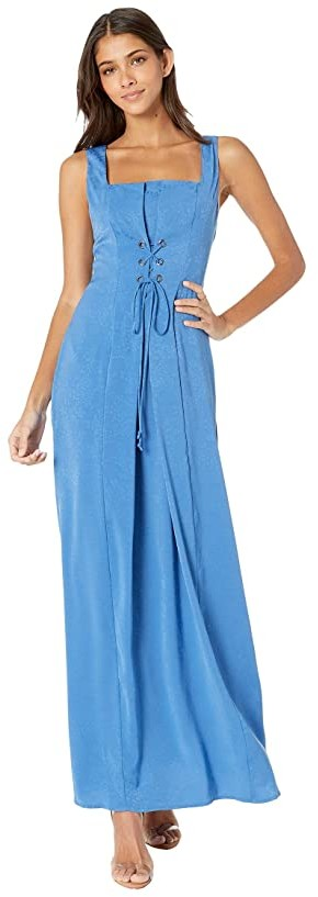 BCBGeneration Lace-Up Maxi Dress TRP6269171 (Bright Cobalt) Women's Dress