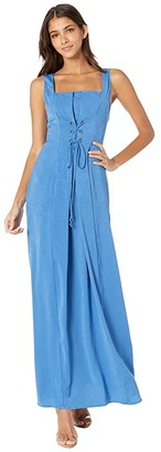 BCBGeneration Lace-Up Maxi Dress TRP6269171 (Bright Cobalt) Women's Dress