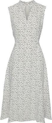 Adam Lippes Flared Printed Cady Dress