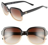 Tory Burch Women's 55Mm Square Sunglasses - Black