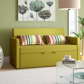 """Corvallis 65"""" Square Arm Sofa Bed Latitude Run Upholstery Color: Apple Green"""