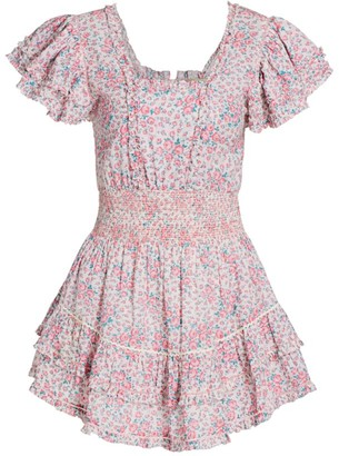 LoveShackFancy Stanton Floral Mini Dress