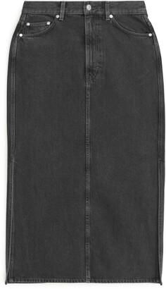 Arket Denim Pencil Skirt