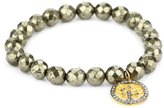 Chan Luu Semi Precious Stones with Diamond Charm Stretch Bracelet