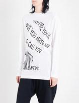 Y-3 Y3 Graphic cotton-jersey top