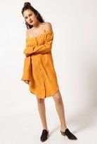 Azalea Off Shoulder Shirt Dress