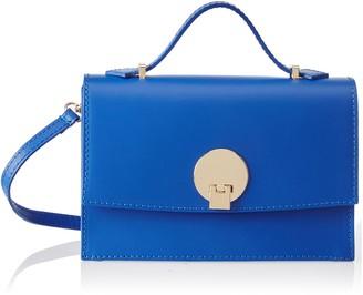 Chicca Borse Women's CBS178484-69 Shoulder Bag Blue Blue (blue blue)
