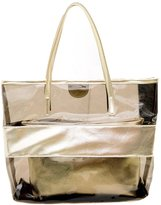 Donalworld Woen Suer Candy Clear Transparent Satchel Beach Handbag PVC Shoulder Handbags