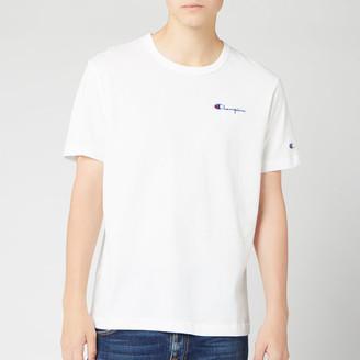Champion Men's Small Script Crew Neck T-Shirt
