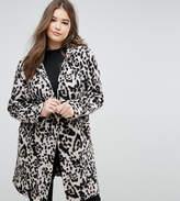 Elvi Leopard Print Wool Coat