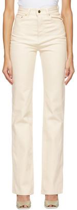 Jacquemus Off-White Le de Nimes Jeans