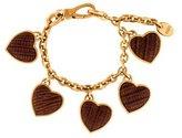Tod's Lizard Heart Charm Bracelet