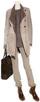 Brunello Cucinelli Hazelnut Polished Leather Half Boots with Lug Sole