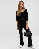 Asos Design DESIGN two-piece crochet knitted flares