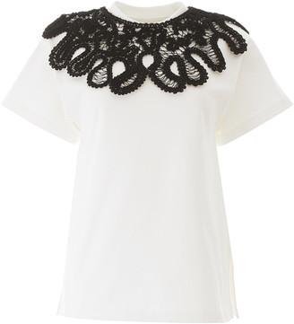 Jil Sander T-shirt With Macrame Collar