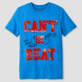 "Boys' ""Can't be Beat"" Football Graphic T-Shirt Cat & Jack - Blue"