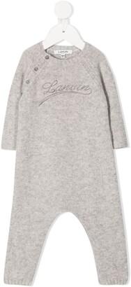 Lanvin Enfant Logo Print Knitted Romper