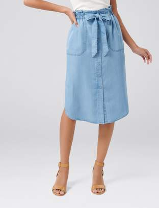 Ever New Elodie Elastic Waist Midi Skirt