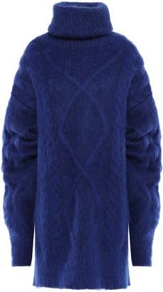 Maison Margiela Oversized Brushed Cable-knit Turtleneck Sweater
