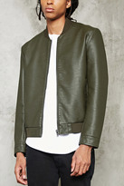 Forever 21 FOREVER 21+ Faux Leather Bomber Jacket