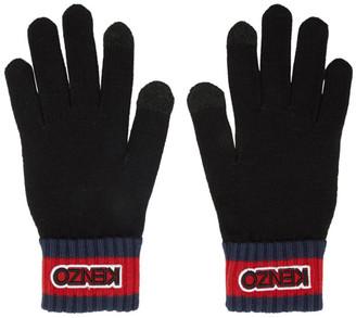 Kenzo Black Logo Tag Gloves