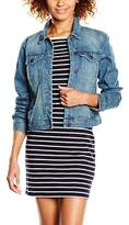 Vero Moda Women's VMDANGER LS DENIM JACKET MD BL NOOS Jacket,36 (Manufacturer size: Small)