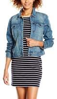 Vero Moda Women's VMDANGER LS DENIM JACKET MD BL NOOS Jacket,40 (Manufacturer size: Large)