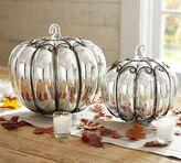 Pottery Barn Mercury Glass & Wire Pumpkins