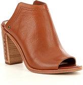 Gianni Bini Rangel Studded Slip On Leather Peep Toe Mules