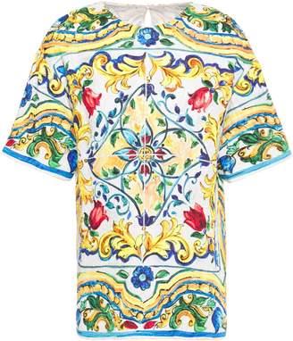 Dolce & Gabbana Printed Cotton-blend Jacquard Top