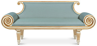 Bunny Williams Home Adrian Bench - Blue Linen