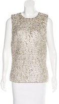 Dolce & Gabbana Metallic Textured Top w/ Tags
