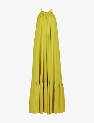 AllSaints Roma crepe maxi dress
