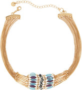 Lydell NYC Golden Multi-Strand Beaded Choker Necklace