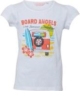Board Angels Girls Campervan T-Shirt White