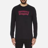 Levi's Men's Graphic Crew Neck Sweatshirt Graphic Caviar