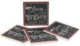 Thirstystone Love the Wine 4-Pc. Coaster Set