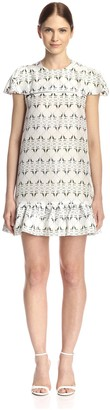 Thomas Wylde Women's Plume Printed Silk Dress