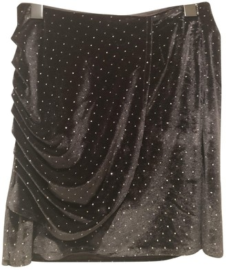 Karl Lagerfeld Paris Marc John Black Velvet Skirt for Women