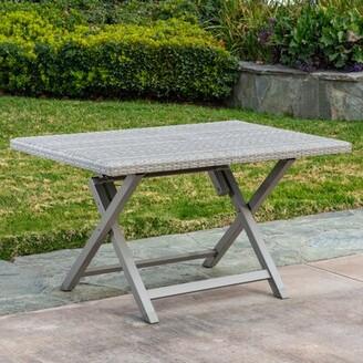 Ebern Designs Specht Wicker/Rattan Dining Table Ebern Designs